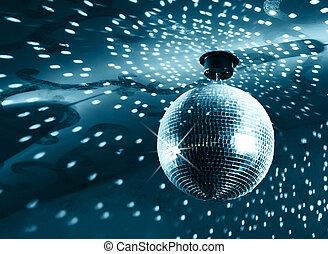 bal, glanzend, disco
