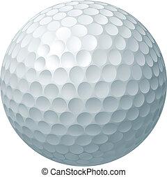 bal, golf, illustratie