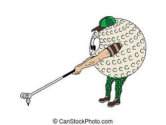 bal, golf, menselijk