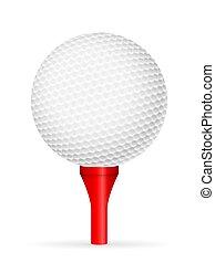 bal, golf tee