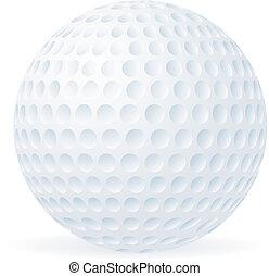 bal, golf, vrijstaand, witte