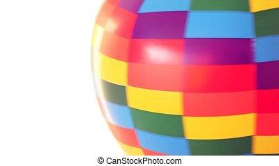 bal, revolves, vasten, lucht, deel, achtergrond, speelbal, witte , gekleurd
