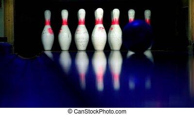 bal, skittles, lit, ritmes, closeup, donker, bowling, broodjes, aanzicht