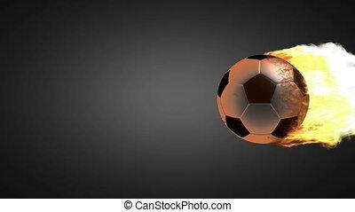 bal, voetbal, burning