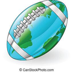 bal, wereldbol, concept, voetbal