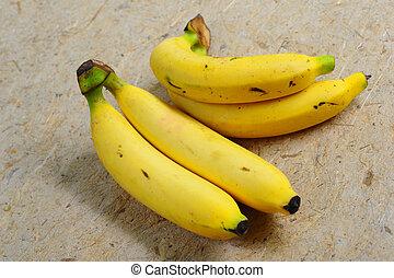 banana., dichtbegroeid boven