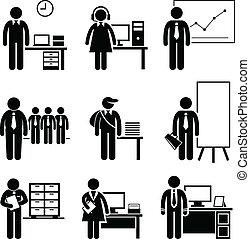 banen, kantoor, carrières, beroepen