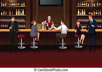 bar, zakenlui