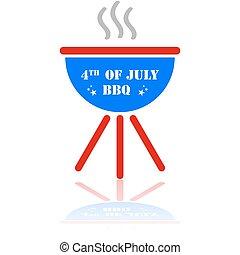 barbecue, four juli