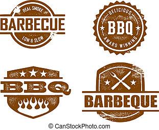 barbecue, postzegels