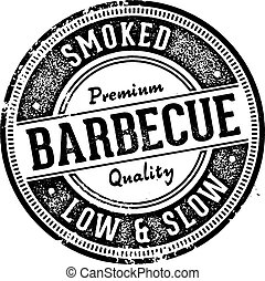 barbecue, restaurant, meldingsbord, ouderwetse , stijl, bbq