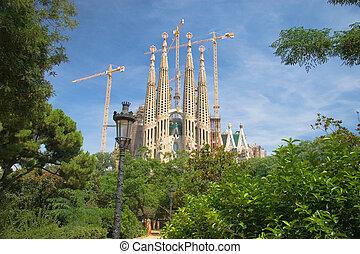 barcelona, sagrada familia, spanje