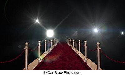 barrières, rood, goud, tapijt