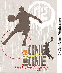 basketbal, een