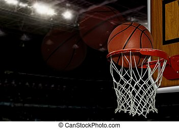 basketbal, grit