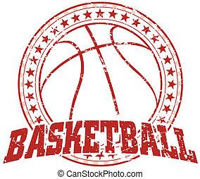 basketbal, ouderwetse , -, ontwerp