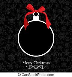 bauble, kerstmis, vrolijk, achtergrond