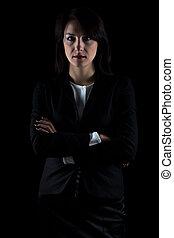 beeld, brunette, zakenmens