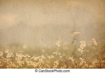 beeld, of, tekst, papier, texturen, ruimte, oud, perfect, achtergrond, -, bloem