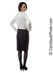 beeld, vrouw zaak, kleren