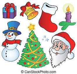 beelden, gevarieerd, kerstmis