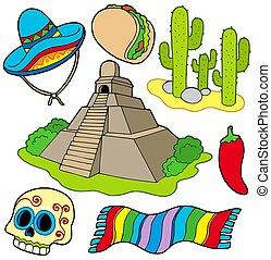beelden, gevarieerd, mexicaanse