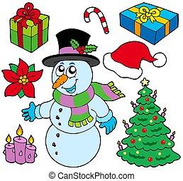 beelden, kerstmis, verzameling