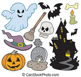 beelden, set, halloween