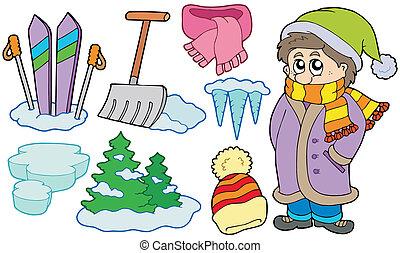 beelden, winter, verzameling