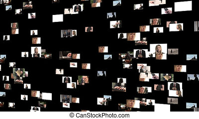 beeldmateriaal, mensen zaak, collage