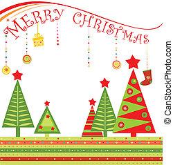 begroetende kaart, kerstmis
