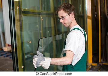 behandeling, glazenmaker, glas, workshop