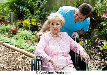 bejaarden, terneergeslagen