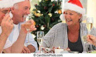 bejaarden, vrienden, vieren