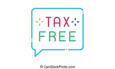 belasting, kosteloos, pictogram, animatie