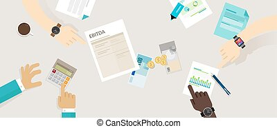 belastingen, amortization, voor, belangstelling, ebitda, waardevermindering, inkomsten