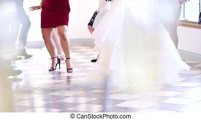 benen, dancing, trouwfeest