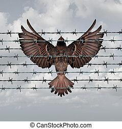 beperkt, vrijheid