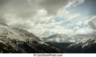 berg, colorado, looping!, sneeuw, vroeg, (1120), storm, bergpas