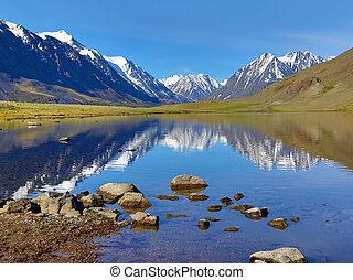 berg meer, landscape