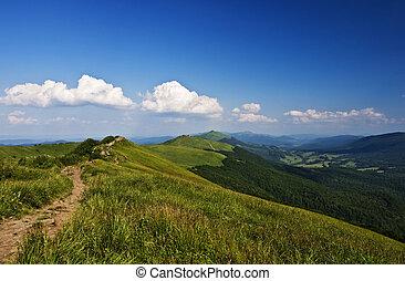 bergen, groene