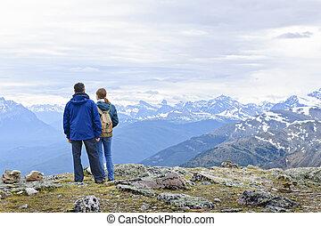 bergen, hikers