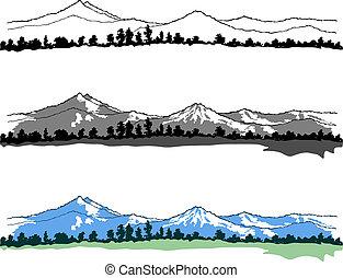 bergen, landschappen