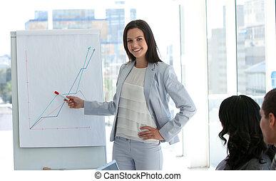 berichtgeving, verkoopcijfer, businesswoman