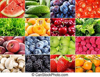 besjes, keukenkruiden, groentes, vruchten, gevarieerd