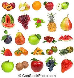 besjes, set, vruchten