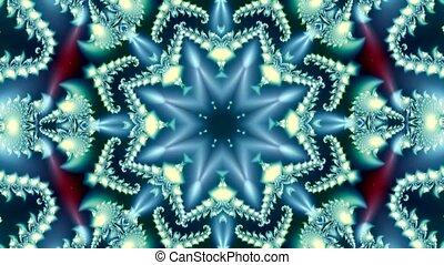 besneeuwd, model, fractal, mooi, animatie, kerstmis, winter, achtergrond, ijs
