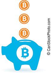 besparing, bitcoin