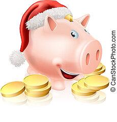 besparing, kerstmis, concept