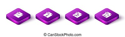 bestand, set, js, wav, svg, document, isometric, vector, ritssluiting, icon.